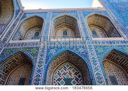 Colorful Atrium In Samarkand Registan, Uzbekistan