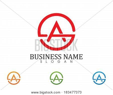 A letters business logo and symbols template