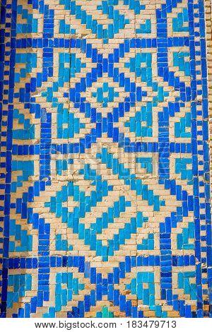 Blue Mosaic Detail. Samarkand Registan