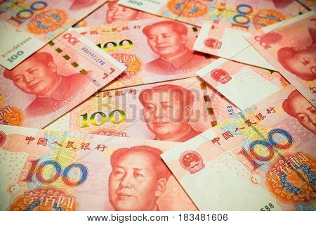 Chinese Yuan Note (rmb or renminbi) background textured