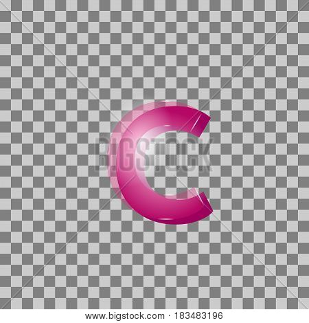 Vector. Letters Are Pink In Color But Isolated Background. Can B