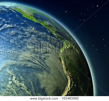 Eastern Pacific From Orbit