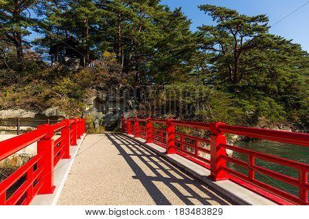 Red bridge in Matsushima