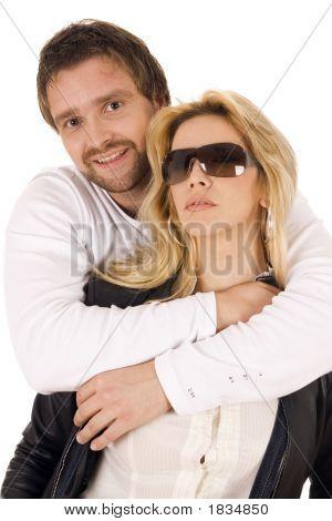 Happy Couple Portrait Smiling