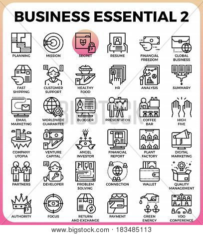 Business Essential Icons