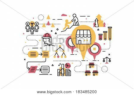 Franchise Business Illustration