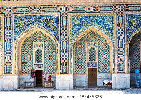 Shop In The Atrium Of Samarkand Registan, Uzbekistan