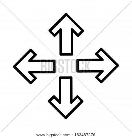 arrows alls directions icon vector illustration design