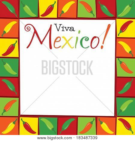 Funky Viva Mexico Card In Vector Format.
