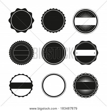 Isolated Illustration Blank Round Stamps for Logo (Sharp and Rounded edges)
