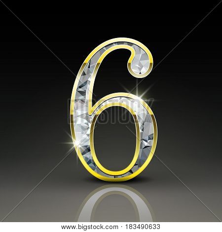 3D Gorgeous Diamond Number 6