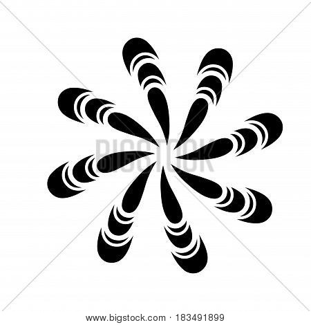 symmetric figure icon over white background. vector illustration