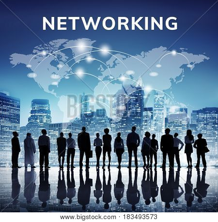 Network connection graphic window background