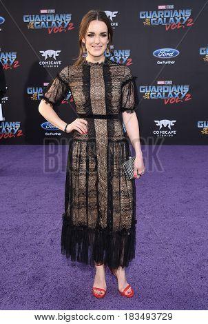 LOS ANGELES - APR 19:  Elizabeth Henstridge arrives for the