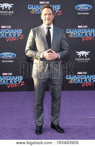 LOS ANGELES - APR 19:  Chris Pratt arrives for the