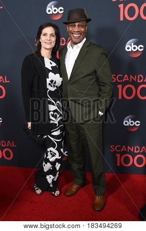LOS ANGELES - APR 08:  Joe Morton and Christine Lietz arrives to the