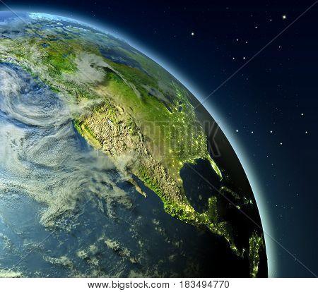 North America From Orbit