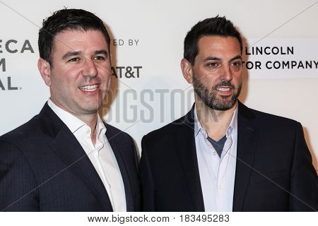 NEW YORK, NY - APRIL 24: Paul Davidson and Brad Navin attends 'The Dinner' Premiere at BMCC Tribeca PAC on April 24, 2017 in New York City.
