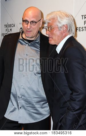NEW YORK, NY - APRIL 24: Actor Richard Gere and Oren Moverman  attends 'The Dinner' Premiere at BMCC Tribeca PAC on April 24, 2017 in New York City.