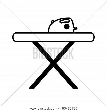 ironing board isolated icon vector illustration design
