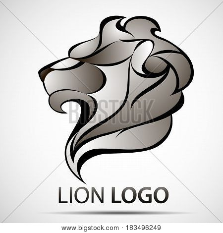 Lion head profile logo. Stock vector illustration for your design