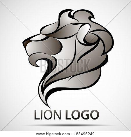 Lion head profile logo. Stock vector illustration for your design