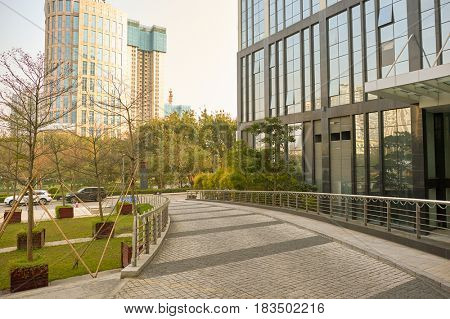 SHENZHEN, CHINA - MARCH 01, 2016:  Longgang urban landscape at daytime. Longgang District is one of the six districts of Shenzhen, China.