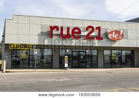 Marion - Circa April 2017: rue21 Retail Strip Mall Location. rue21 is closing about one-third of its stores nationwide II