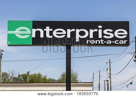 Marion - Circa April 2017: Enterprise Rent-A-Car Local Rental Location. Enterprise Rent-A-Car is the largest rental car company in the US I