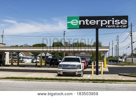 Marion - Circa April 2017: Enterprise Rent-A-Car Local Rental Location. Enterprise Rent-A-Car is the largest rental car company in the US II