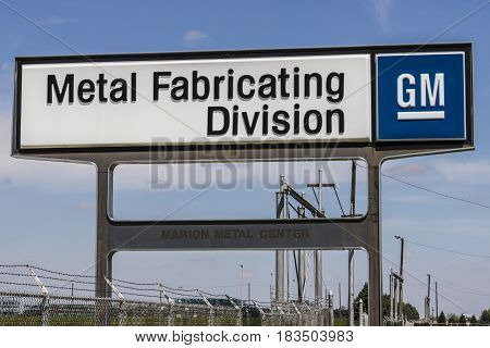 Marion - Circa April 2017: General Motors Metal Fabricating Division. Founded in 1956 as Fisher Body the plant is now part of GM's Manufacturing Stamping organization I