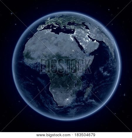 Africa At Night From Space