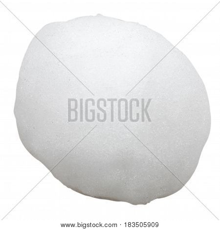 Big snowball isolated on a white background