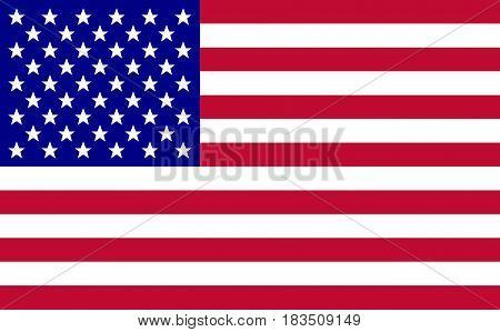 usa flag Vector illustration. Eps 10 america flag