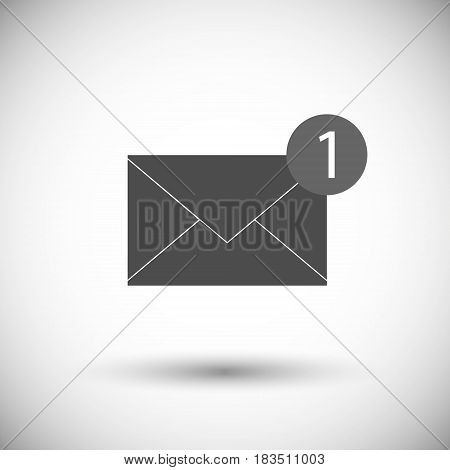Email message isolated on white background. Vector illustration. Eps 10.