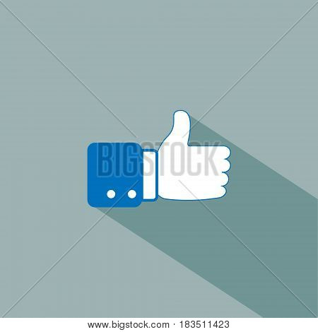 like icon isolated on white background. Vector illustration. Eps 10.