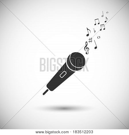 Microphone vector icon isolated on white background. Vector illustration. Eps 10.