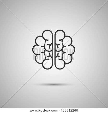 brain icon isolated on white background. Vector illustration. Eps 10.