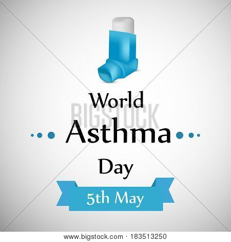 Illustration of asthma inhaler with World Asthma Day text
