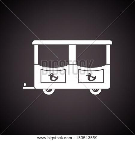 Wagon Of Children Train Icon