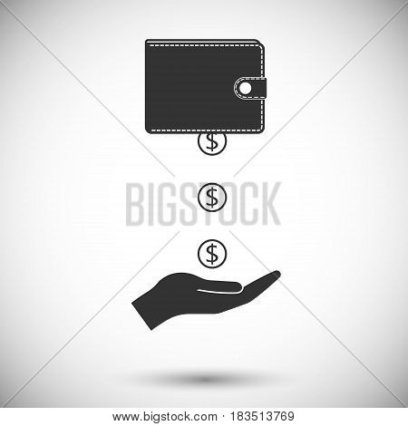 Financial Aid isolated on white background. Vector illustration. Eps 10.