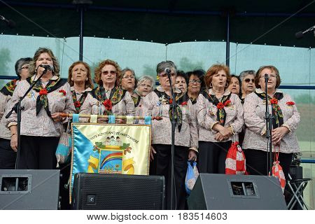 CERCAL, ALENTEJO, PORTUGAL - APRIL 25: commemoration of the 43rd anniversary of the carnation revolution of 25 April in the village of Cercal 25 April 2017