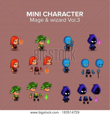 Mini  magical and wizard Character kit.