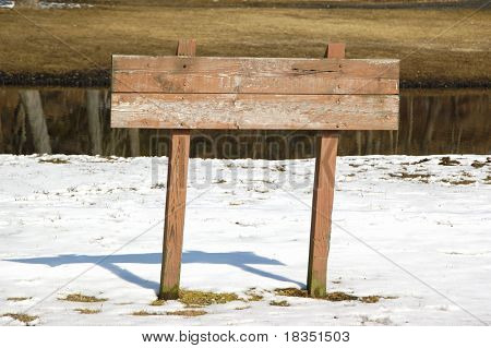 An empty sign board, ready to put message