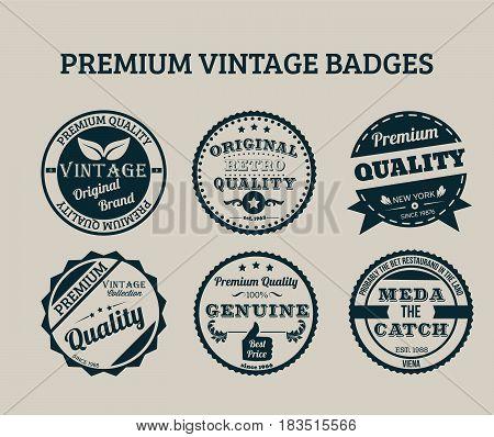 Premium Vintage Badges. vector Illustration. premium label