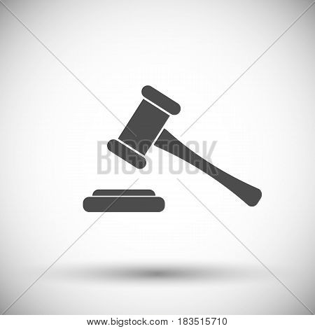 Hammer judge icon isolated on white background. Vector illustration. Eps 10.