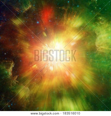 Big Explosion In Space And Relic Radiation. Elements Of This Image Furnished By Nasa (http://www.nas