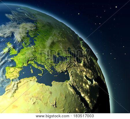 Emea Region From Orbit