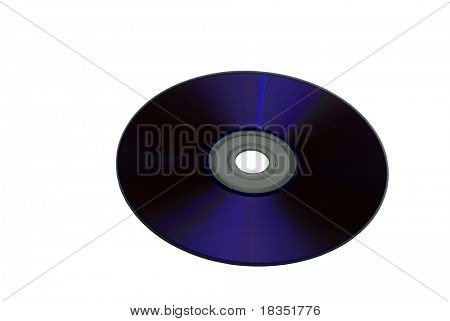 A DVD disk isolated on a white background