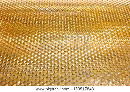 Geometric facade pattern of wall background., Abstract background.